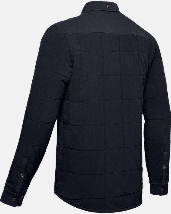Men's UA Ultimate ColdGear® Quilted Shacket, Black, pdpMainDesktop image number 4