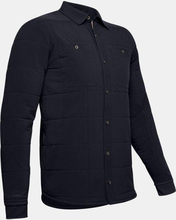 Men's UA Ultimate ColdGear® Quilted Shacket, Black, pdpMainDesktop image number 3