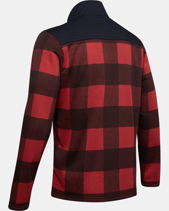 Men's UA Field Fleece Full Zip, Red, pdpMainDesktop image number 5