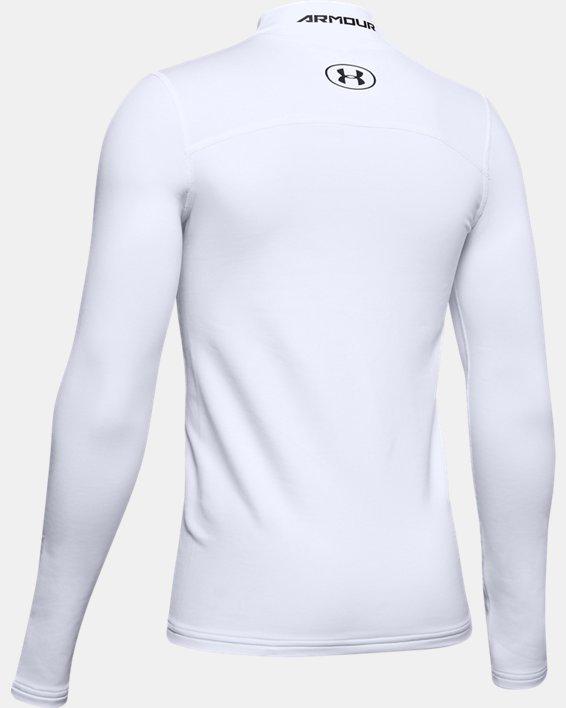 Boys' ColdGear® Armour Mock, White, pdpMainDesktop image number 5