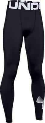 001 Black // // White Under Armour Kids Coldgear Legging YMD