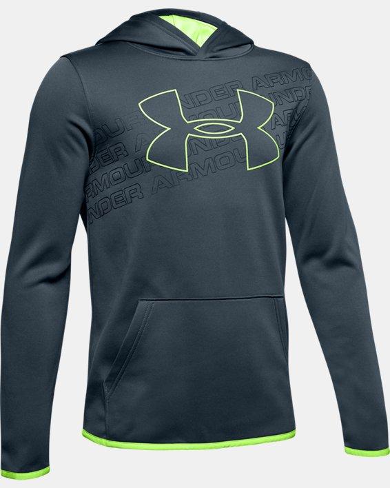 Boys' Armour Fleece® Logo Hoodie, Gray, pdpMainDesktop image number 0