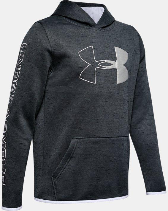 Sweat à capuche Armour Fleece® Branded pour garçon, Black, pdpMainDesktop image number 4