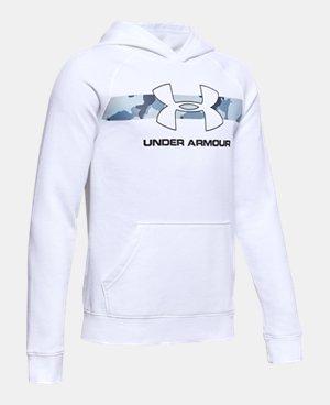 White Kids (Size 8+) Training Hoodies & Sweatshirts | Under