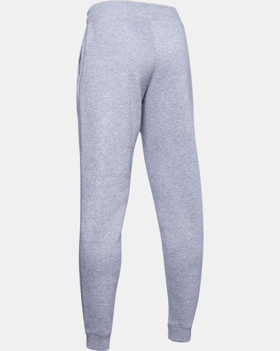 Boys' UA Hustle Fleece Joggers, Gray, pdpMainDesktop image number 1
