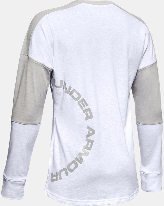 Boys' UA Sportstyle Color Blocked Long Sleeve, White, pdpMainDesktop image number 1