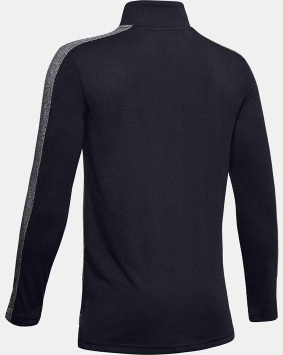 Boys' UA Relay ½ Zip, Black, pdpMainDesktop image number 1