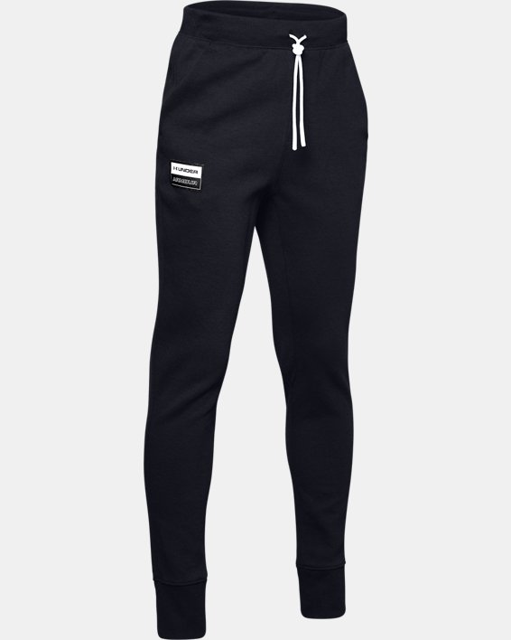 Boys' UA Unstoppable Double Knit Pants, Black, pdpMainDesktop image number 4