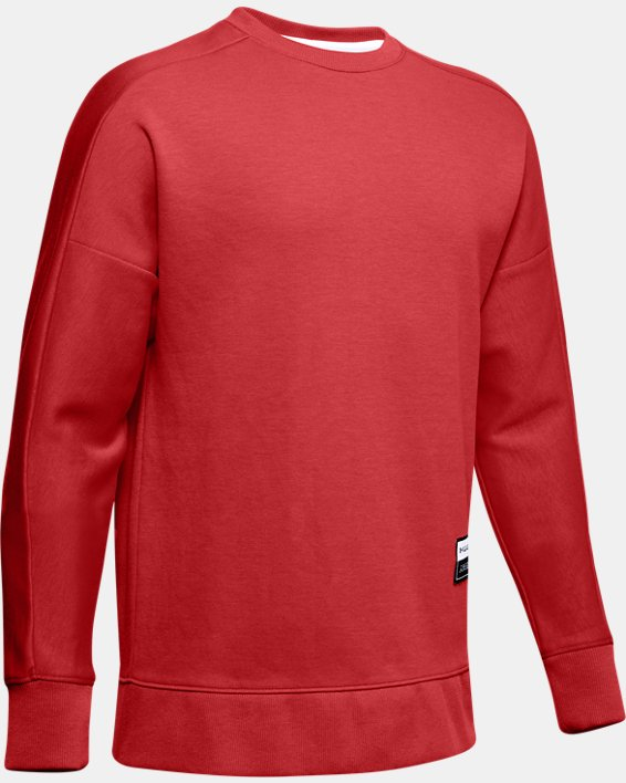 Boys' UA Unstoppable Double Knit Crew, Red, pdpMainDesktop image number 0