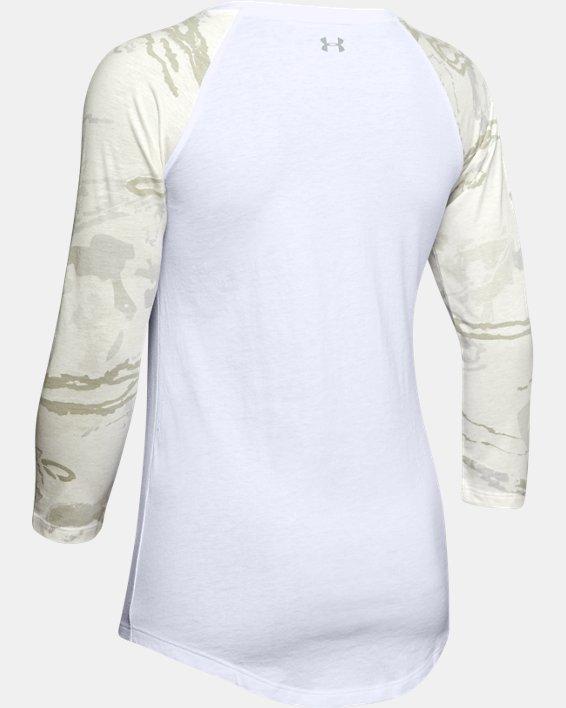 Women's UA Camo Sleeve Utility T, White, pdpMainDesktop image number 5