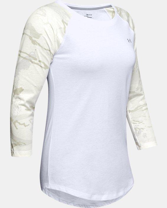 Women's UA Camo Sleeve Utility T, White, pdpMainDesktop image number 4