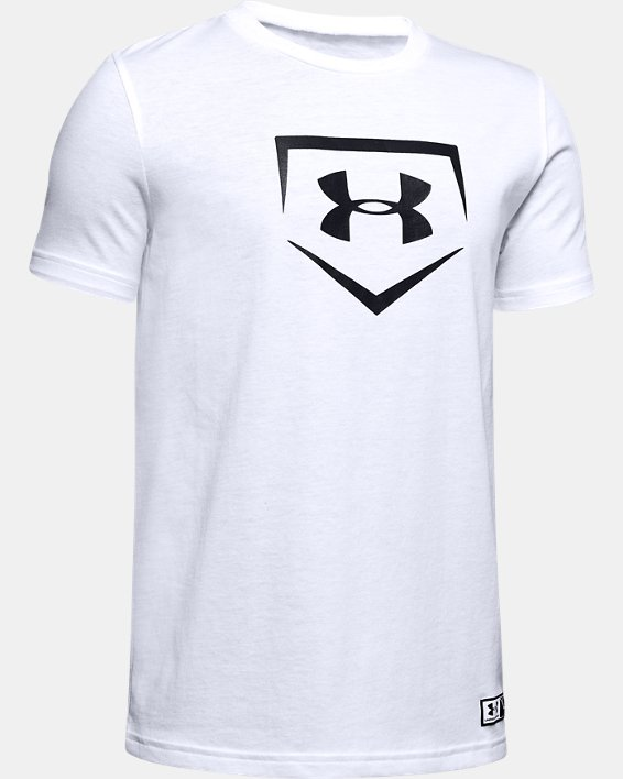 Boys' UA Plate Graphic T-Shirt, White, pdpMainDesktop image number 0
