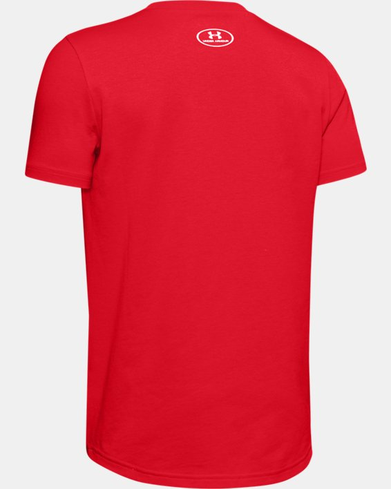 Boys' UA Plate Graphic T-Shirt, Red, pdpMainDesktop image number 1