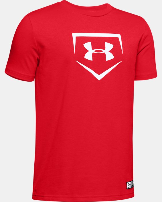 Boys' UA Plate Graphic T-Shirt, Red, pdpMainDesktop image number 0