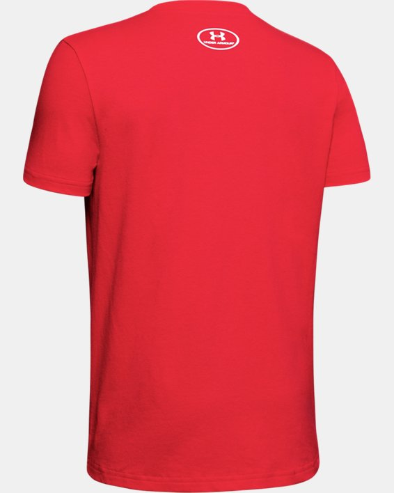 Boys' UA 5 Tool Pocket Graphic T-Shirt, Red, pdpMainDesktop image number 1