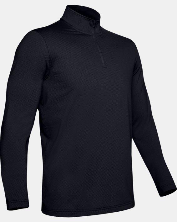 UA LW ¼ Zip pour hommes, Black, pdpMainDesktop image number 4