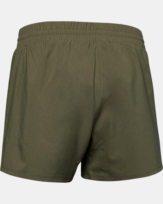 Women's UA Tactical PT Shorts, Green, pdpMainDesktop image number 5