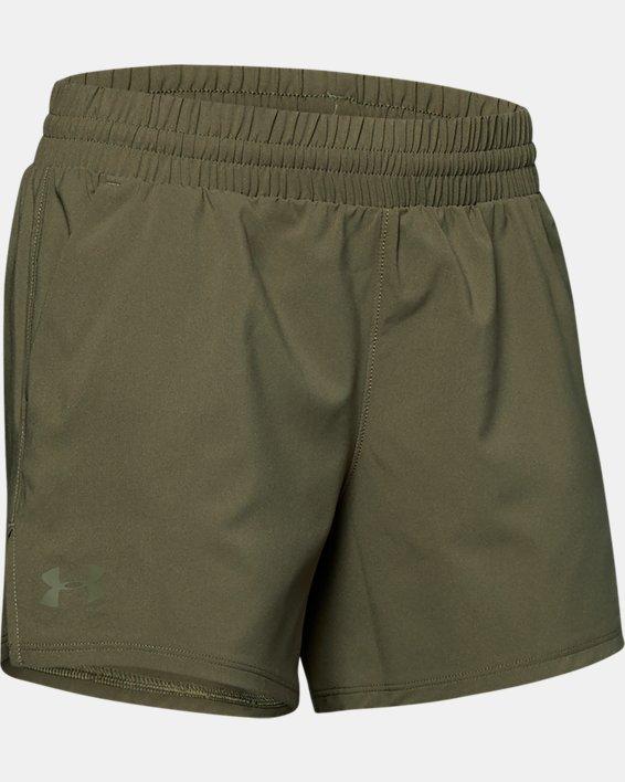 Women's UA Tactical PT Shorts, Green, pdpMainDesktop image number 4