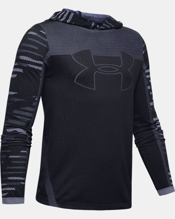 Boys' UA Seamless Hoodie, Black, pdpMainDesktop image number 3