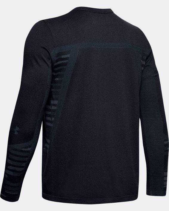 Boys' UA Seamless Long Sleeve, Black, pdpMainDesktop image number 1