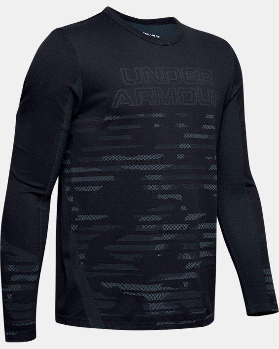 Boys' UA Seamless Long Sleeve, Black, pdpMainDesktop image number 0