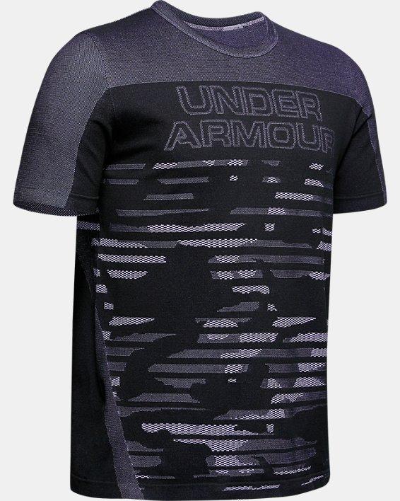 Boys' UA Seamless T-Shirt, Black, pdpMainDesktop image number 0
