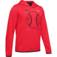 Deals on Under Armour Boys Armour Fleece Baseball Logo Hoodie