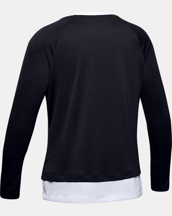 Girls' UA Tech™ Long Sleeve, Black, pdpMainDesktop image number 1