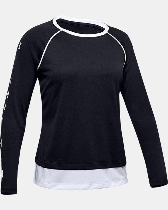 Girls' UA Tech™ Long Sleeve, Black, pdpMainDesktop image number 0