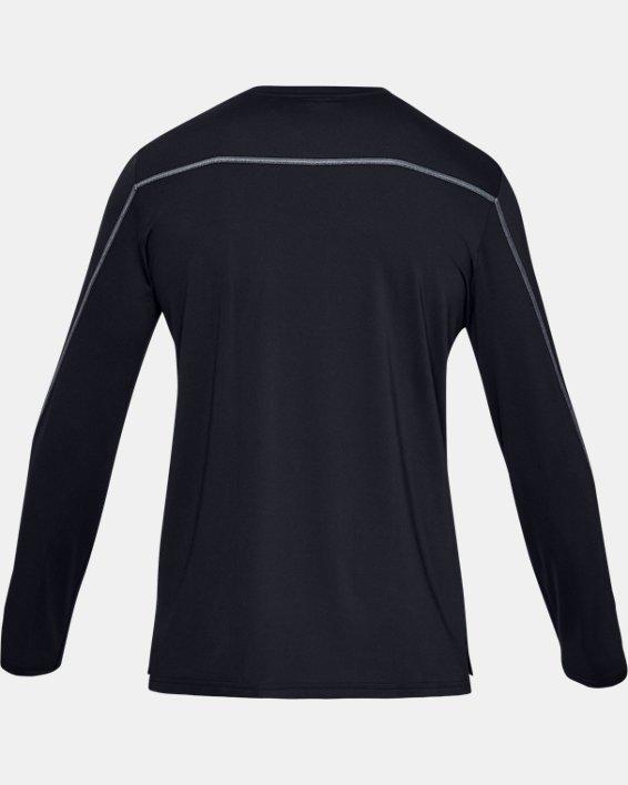 Men's UA Sun Armour Graphic Long Sleeve, Black, pdpMainDesktop image number 4