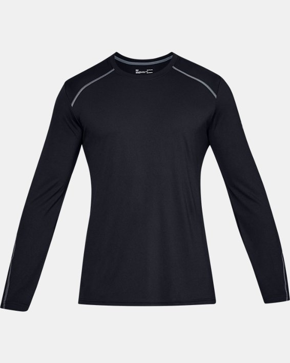 Men's UA Sun Armour Graphic Long Sleeve, Black, pdpMainDesktop image number 3