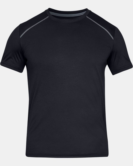 Men's UA Iso-Chill Fusion Short Sleeve, Black, pdpMainDesktop image number 3