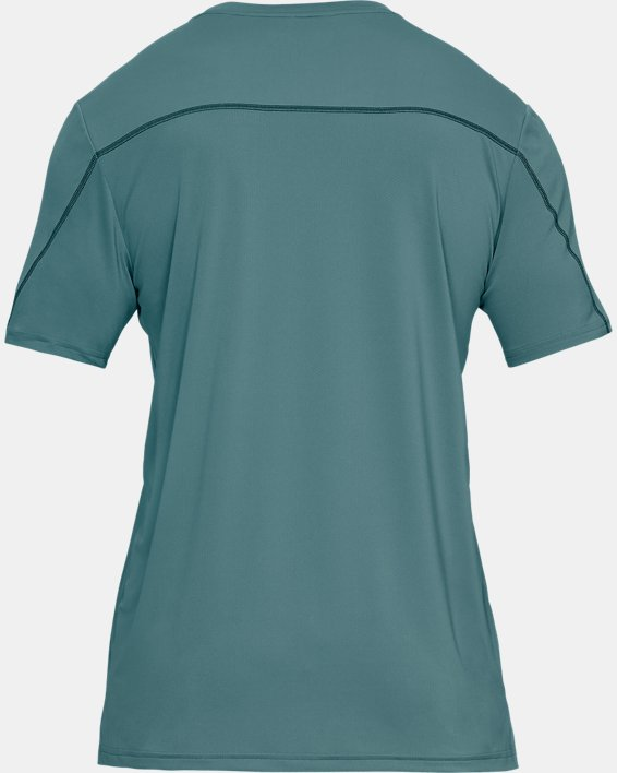 Men's UA Iso-Chill Fusion Short Sleeve, Blue, pdpMainDesktop image number 4