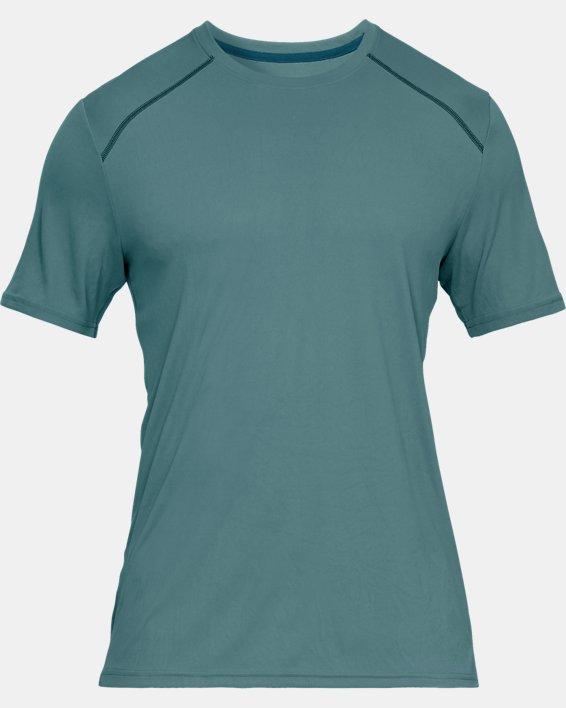 Men's UA Iso-Chill Fusion Short Sleeve, Blue, pdpMainDesktop image number 3