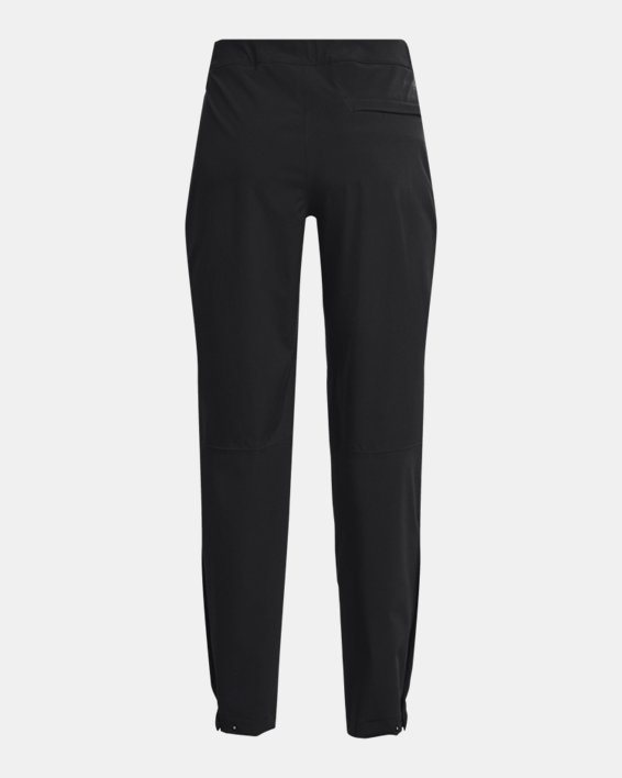 Women's UA Golf Rain Pants, Black, pdpMainDesktop image number 4
