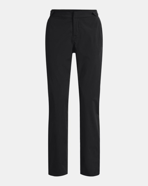 Women's UA Golf Rain Pants, Black, pdpMainDesktop image number 3