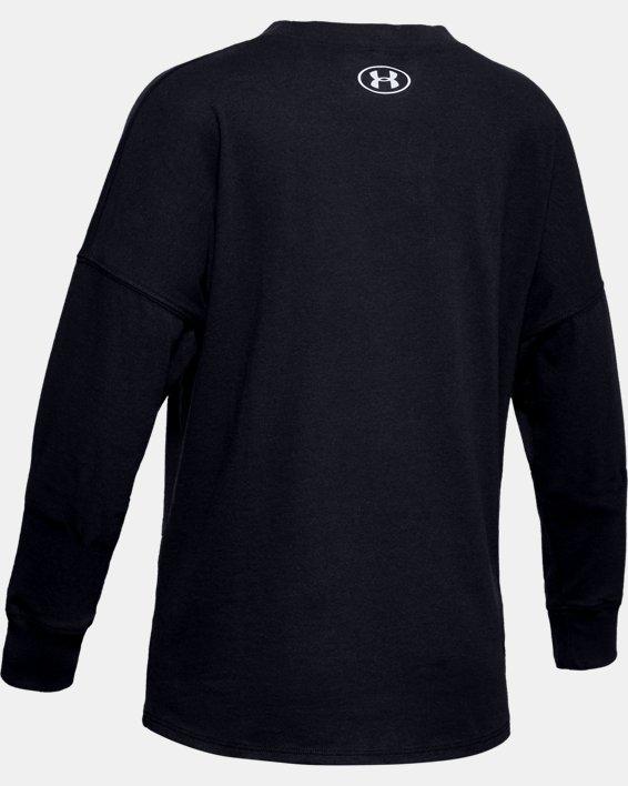 Girls' UA Wordmark Branded Long Sleeve, Black, pdpMainDesktop image number 1