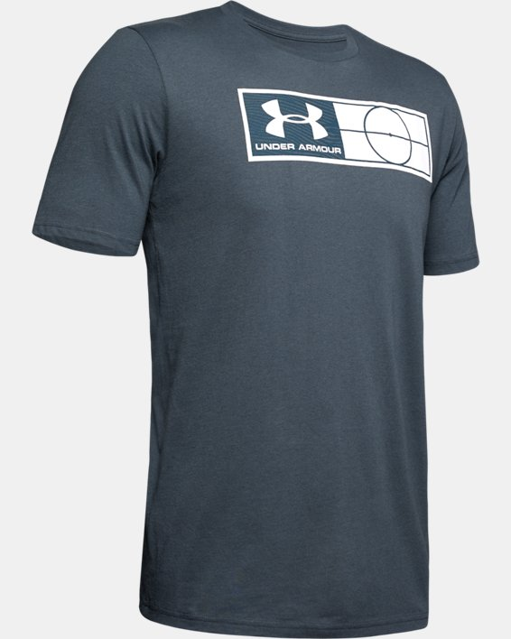 Men's UA Global Football Tag T-Shirt, Gray, pdpMainDesktop image number 4