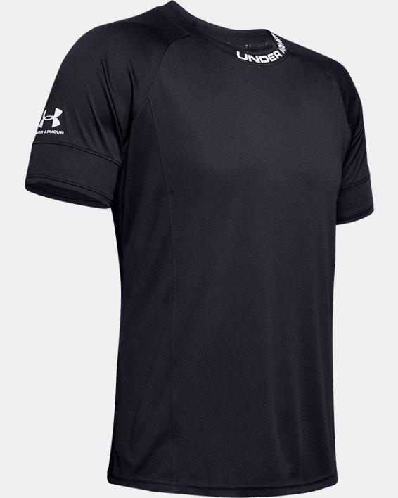 Men's UA Challenger III Training Short Sleeve, Black, pdpMainDesktop image number 5
