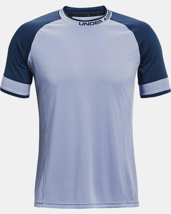 Men's UA Challenger III Training Short Sleeve, Blue, pdpMainDesktop image number 3