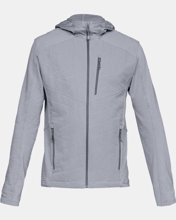 Men's ColdGear® Reactor Exert Jacket, Gray, pdpMainDesktop image number 3
