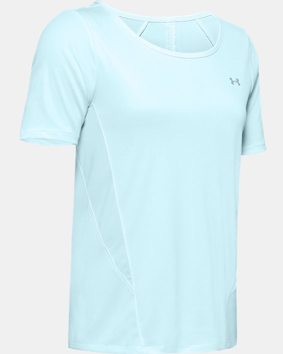 Women's UA Sun Armour ½ Sleeve, Blue, pdpMainDesktop image number 3