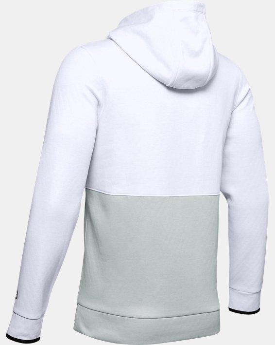 Sweat à capuche UARecover Fleece Graphic pour homme, White, pdpMainDesktop image number 4
