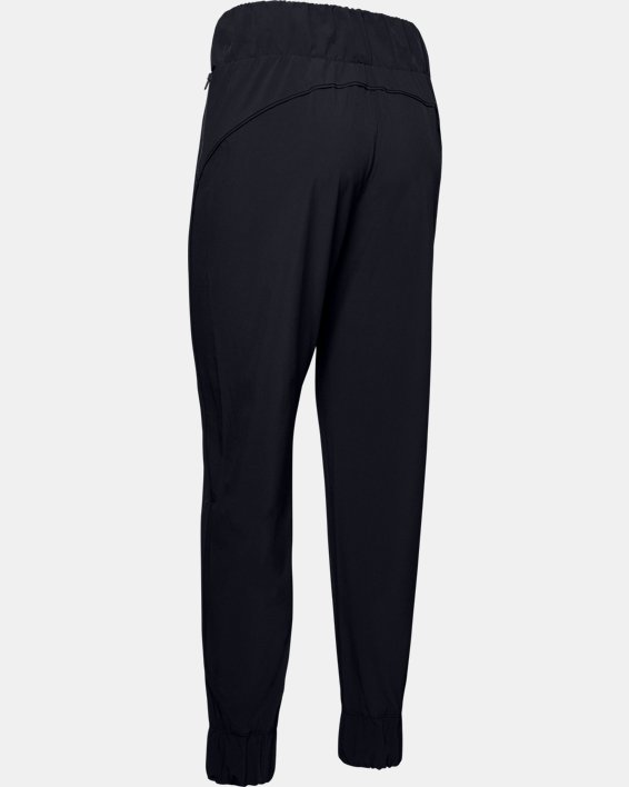 Women's UA Unstoppable Storm Woven High Waist Pants, Black, pdpMainDesktop image number 4