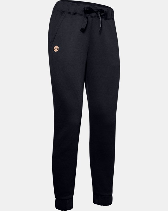 Women's UA RECOVER™ Fleece Pants, Black, pdpMainDesktop image number 3