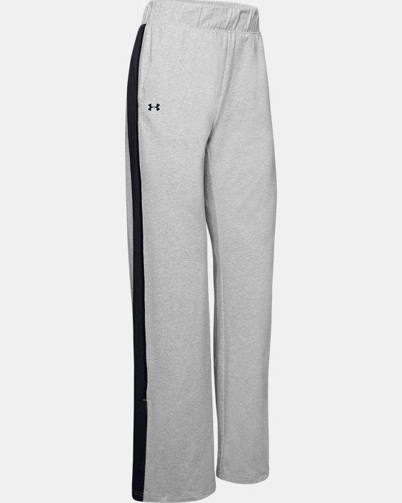 Women's UA Favorite Open Hem Side Split Pants, Gray, pdpMainDesktop image number 4