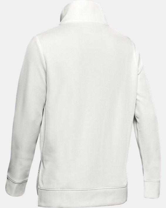 Women's Armour Fleece® Mirage Mock, White, pdpMainDesktop image number 5