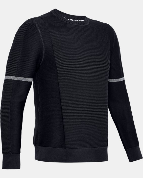 Men's UA ItelliKnit Phantom Sweater, Black, pdpMainDesktop image number 3