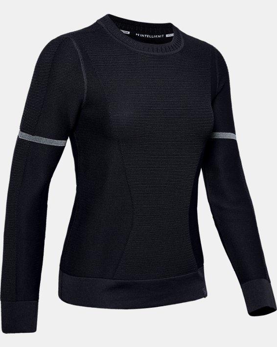 Sweat-shirt UA IntelliKnit pour femme, Black, pdpMainDesktop image number 3