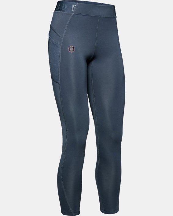 Women's UA RUSH™ ColdGear® Leggings, Gray, pdpMainDesktop image number 4